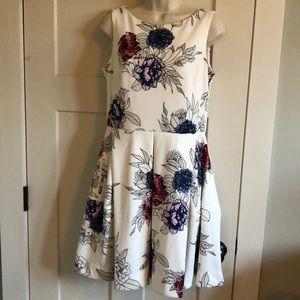 Taylor Ivory floral dress sz 10